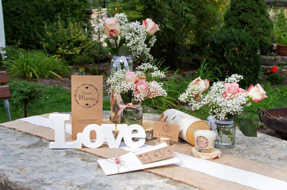 Meine Hochzeitsdeko